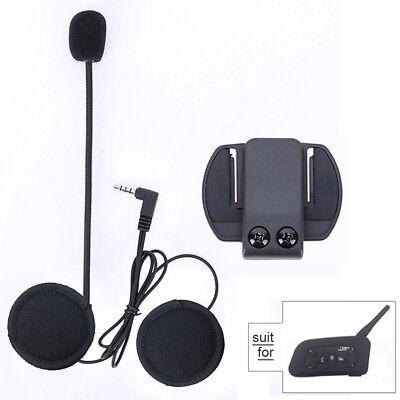 Motorcycle Helmet Speaker Earphone Mic Headset For V6 1200M BT Moto Intercom UK