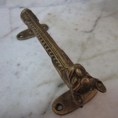 Antique Door wardrobe Handles Brass Cupboard Puller Vintage Cat Nefertiti Egypt 9