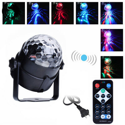 RGB LED Effect Disco Light Stage DJ Laser Crystal Magic Ball Lights Club Party 3