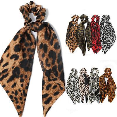 Double Layer Chiffon Bow Long Ribbon Scrunchie Hair Scarf Rubber Band Hair Tie @ 7