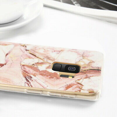For Samsung Galaxy S10+ S10e S9 S8 Matte Marble Pattern Soft Silicone Case Cover 12