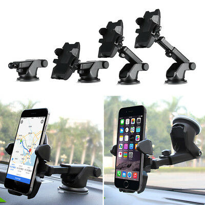 360 Rotatable Car Windscreen Suction Cup Mount Mobile Phone Holder Bracket Stand 7