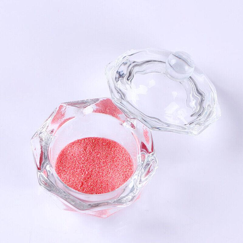 Crystal Glass Cup Acrylic Nail Powder Liquid Container Bowl Dish Nail Art Tool 7