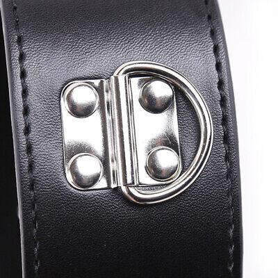 PU-Lederhalsband an Handfesseln Handgelenksmanschetten Slave-Gurtzeug-Handschell 7