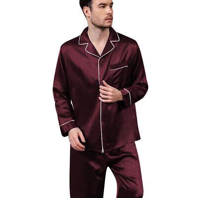 Mens Silk Satin  Pajamas - PJ Set  Top and Bottom 6