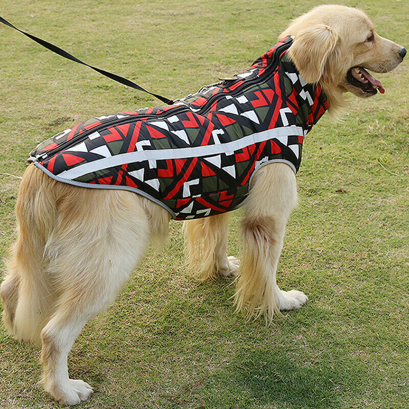 Waterproof Winter Warm Pet Dog Padded Vest Coat Medium/ Large Jacket Clothes UK 9