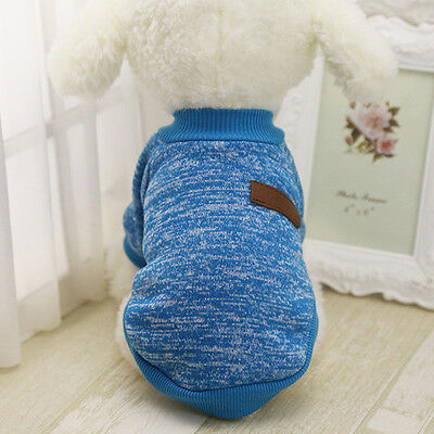Pet Coat Dog Jacket Spring Clothes Puppy Cat Sweater Coat Clothing Apparel New 9