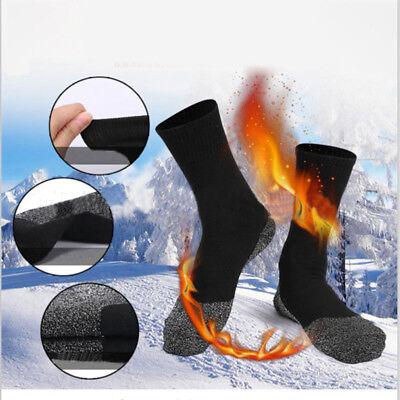 1Pair 35° Below Sock Aluminized Fibers Feet Warm And Dry Heat Insulation Black P 2