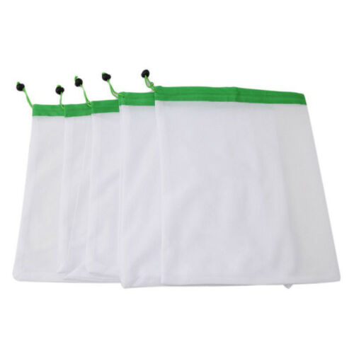 Reusable Produce Bags Vegetable Fruit Breathable Mesh Storage Pouch Shopping Bag 7