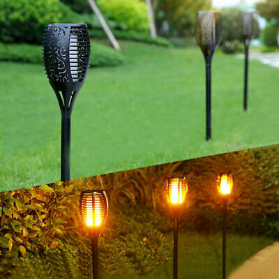 4 Pack Solar Torch Lights 96 LED Flickering Lighting Dancing Flame Garden Lamp 3