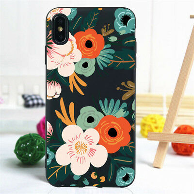 For iPhone 11 Pro XR XS Max SE 6S 7 8 Plus Case Silicone Painted Slim TPU Cover 12