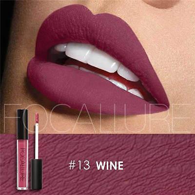 FOCALLURE 25 Colors Long Lasting Waterproof Matte Lipstick Liquid Gloss Cosmetic 12