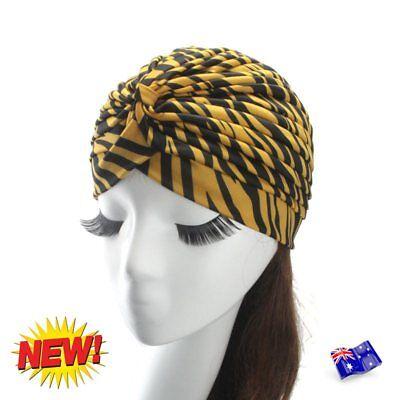 Ladies Stretch Headcover Head Wrap Beanie Chemo Bandana Animal Print Hat Turban 2