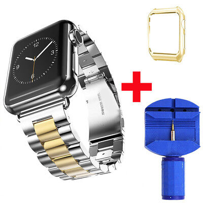 Stainless Steel iWatch Band Strap Wrist With Case For Apple Watch Series 1/2/3/4 9
