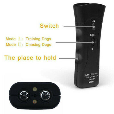 Ultrasonic Anti Dog Barking Trainer LED Light Gentle Chaser Petgentle Sonics 4