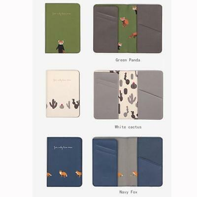 Animals Flower Faux Leather Passport Holder Cover Travel Wallet Organize Bag BS 7