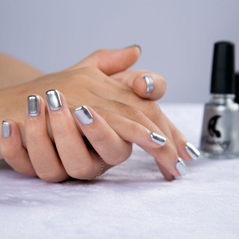 MAGIC MIRROR EFFECT Chrome Nail Polish Metallic Holographic Solid ...