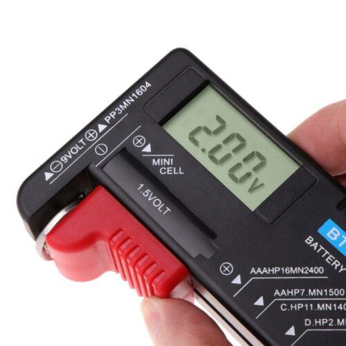 Universal LCD Digital AA/AAA/C/D/9V/1.5V Button Cell Battery Volt Tester BT-168D 9