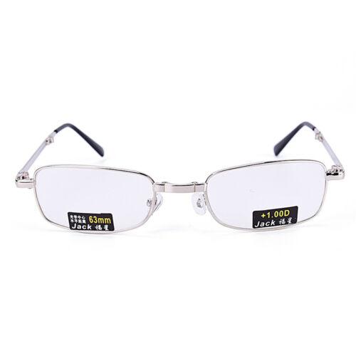 Gafas de lectura metal Snap plegable con case +1.0 +1.5 +2.0 +2.5 +3.0 +3.5EE 8