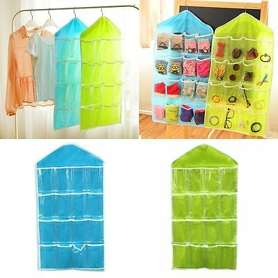 16 Pockets Door Wardrobe Hanging Organizer Bag Shoe Rack Hanger Closet Storage L 4