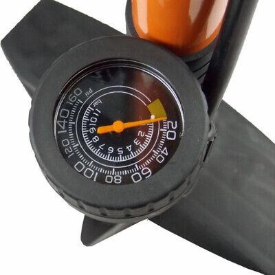 AU High Pressure Bicycle Air Pump Bike Alloy Floor Dual Valve Gauge UP 160 PSI 3