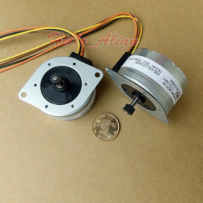 Japan OKI 42mm Round 2 Phase 4 Wire Stepper Motor 7.5 degree for Printer Copier 10