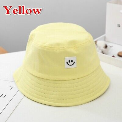 Unisex Foldable Smile Bucket Hat Outdoor Sunscreen Cap Smile Face Fisherman Hats 6