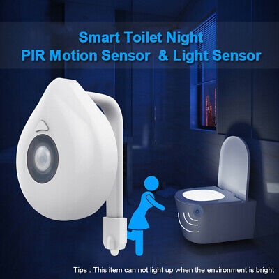 Color Changing LED Motion Activated Seat Auto Sensor Toilet Bathroom Night Light 2