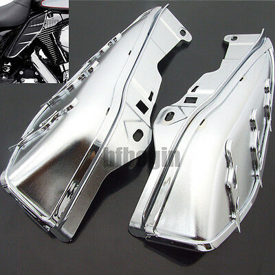 Automobiles & Motorcycles Motorcycle Accessories & Parts Chrome Motorcycle Airmaster Accents Trims For Mid-frame Air Deflectors Fit For Harley Touring Fl Models