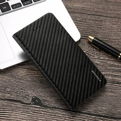 Magnetic Carbon Leather Flip Wallet Phone Case Cover for Apple iPhone X 8 7 6 5s 2