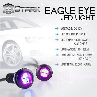 10 Pieces Eagle Eye 18mm 5730SMD High Power LED Fog Light DRL Backup Signal Bulbs Purple