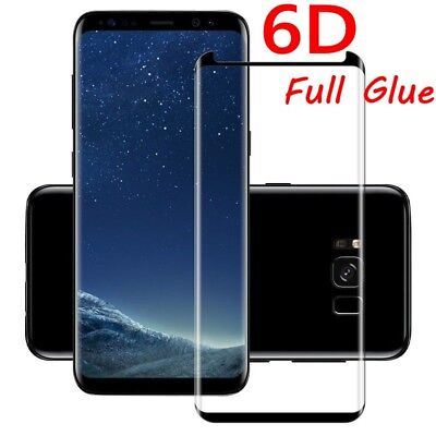 6D Samsung Galaxy S9+ S8 Plus Note 8/9 Tempered Glass Full Glue Screen Protector 3