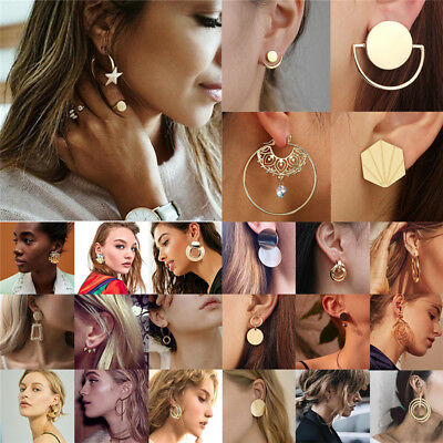 Fashion Statement Metal Geometric For Women Boho Dangle Earrings Modern Jewelry 4