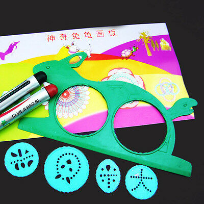 XUES® 1PC//SET Hot Magic Turtle Rabbit Sketchpad Spirograph Drawing Kids