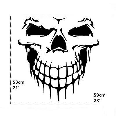 Car Suv Pickup Body Roof Door Large Skull Skeleton Graphics Vinyl