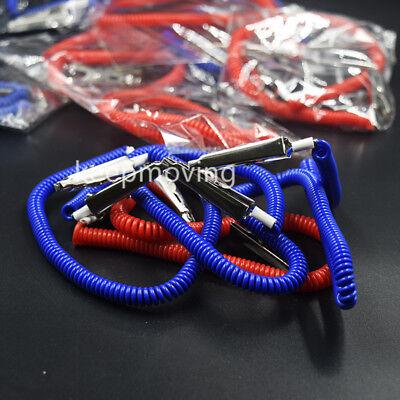 20 Pcs Dental Patient Bib Clips Chains Napkin Holder Flexible Coil Plastic 8