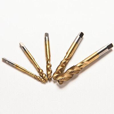 4 of 9 M3 M4 M5 M6 M8 High Speed Steel HSS Screw Thread Metric Spiral Hand Plug Tap