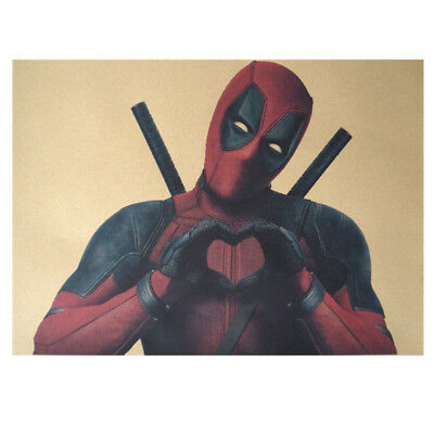 Avengers Deadpool Retro Kraft Paper Poster Cafe Bar Room Decor Painting Picture 9