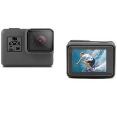 For GoPro HERO 7 6 5 Black Protective Lens Cover Case Mount Screen Hard Film 2pc 3