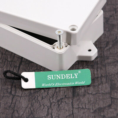 New Plastic Electronics Project Box Enclosure Instrument Case DIY With Screws UK 2