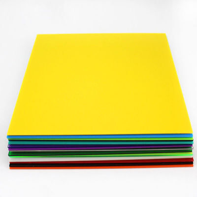 Color Acrylic Sheet Plate Plastic Plexiglass Panel 8x8/10x20/15x15/20x20/30x40cm 11
