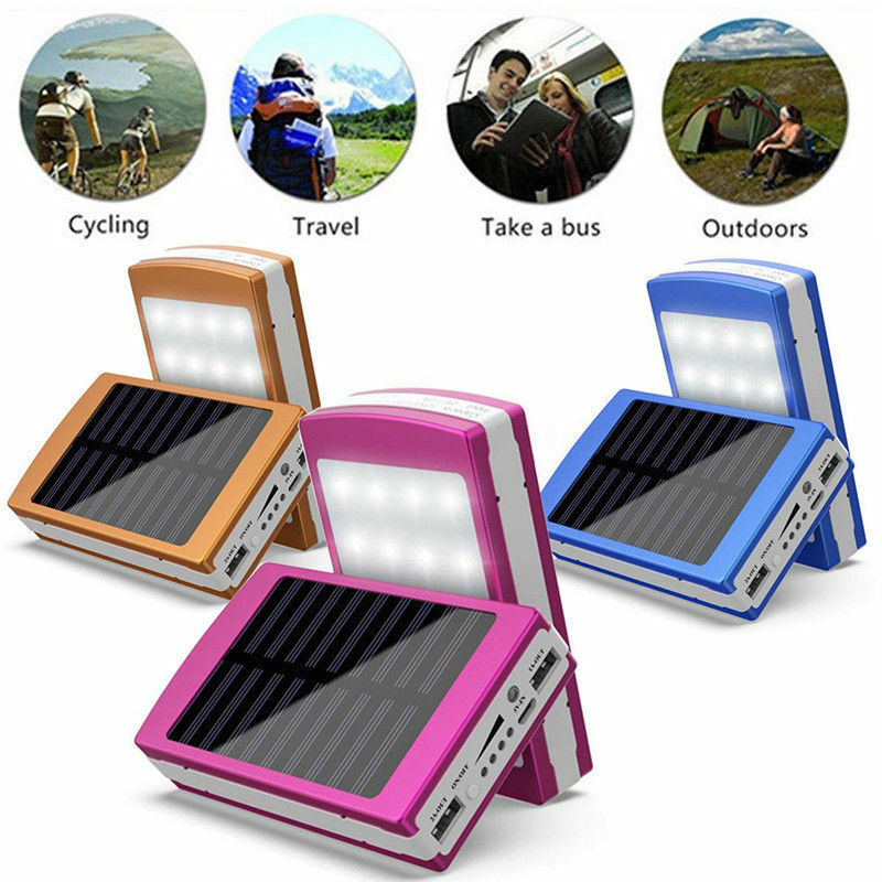 30000mAh Dual USB Portable Solar Battery Charger Power Bank For Cell Phone 4
