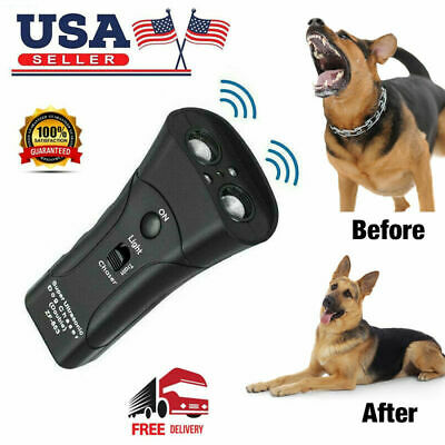 Anti Dog Barking Pet Trainer LED Light Ultrasonic Gentle Chaser Petgentle US 2