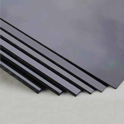 Black ABS Plastic Sheet Board DIY Model Craft 200x250mm 1/1.5/2/3/4/5mm Thick 3