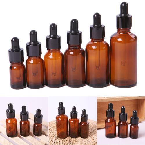 5-50ML Leer Glas Flasche Pipettenflasche Tropfer Braunglas Ätherisches Öl P X3K5 3
