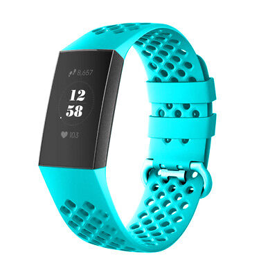 For Fitbit Charge 3 Watch Band Replacement Silicone Breathable Wrist Bracelet 12