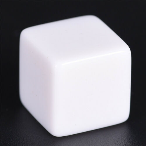 10pcs16mm blank white can write dice counting cubes square gaming diceFEH FO