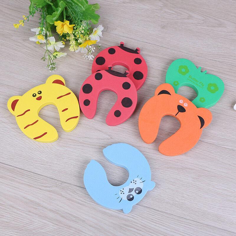 6X Baby safety foam door jammer guard finger protector animal design L~ 5