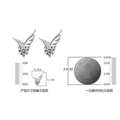 Fashion Woman Silver Plated Round Cubic Zirconia Crystal Stud Earrings Jewelry 5
