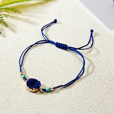 Handmade Natural Stone Rope Bracelet Bangle Friendship Couple Card Jewelry Gifts 9
